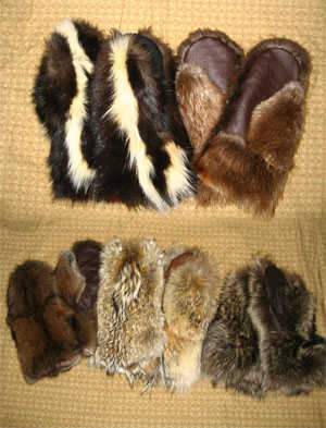 Adult Fur Mittens