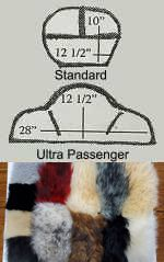 Sheepskin Motorcycle Backrest Covers